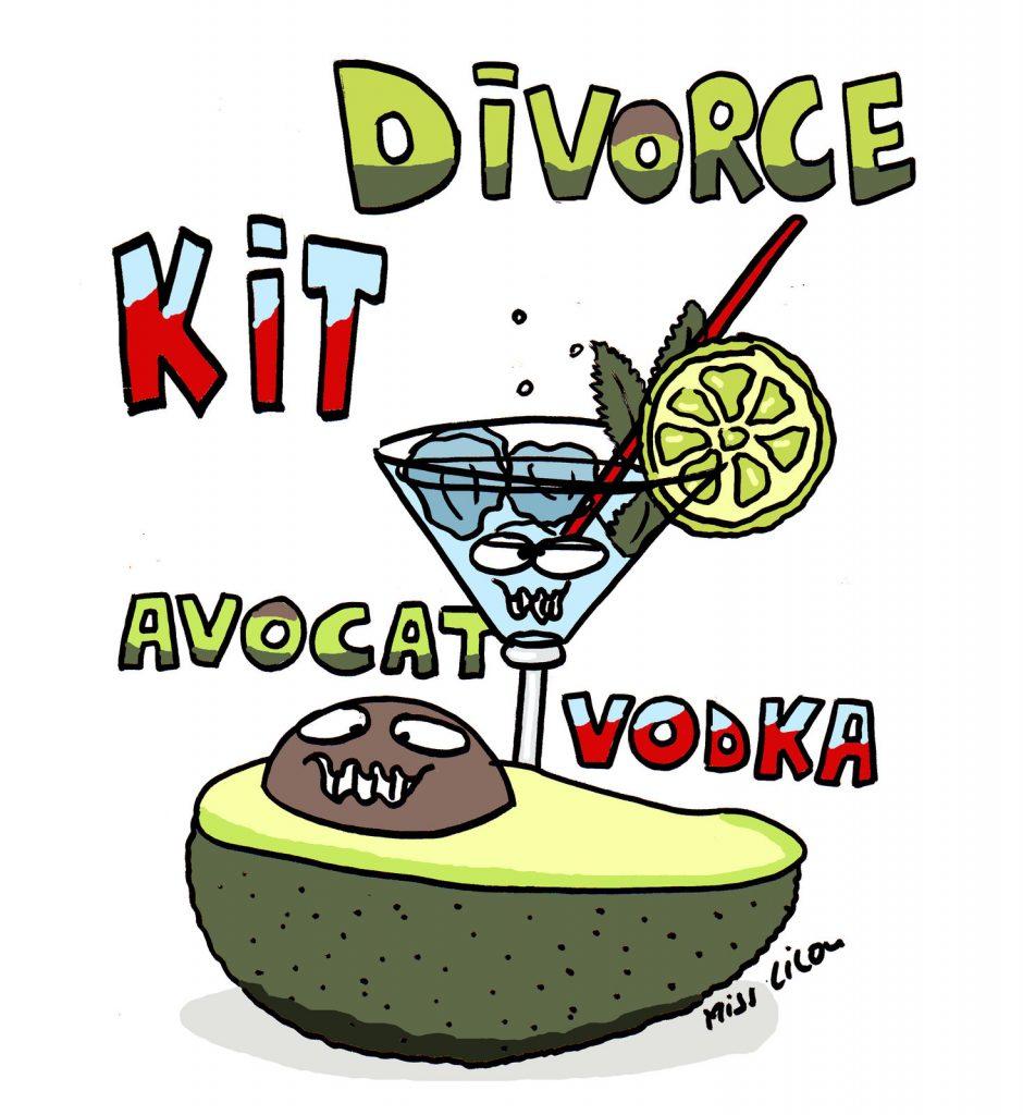 dessin de Miss Lilou sur le nécessaire en cas de divorce