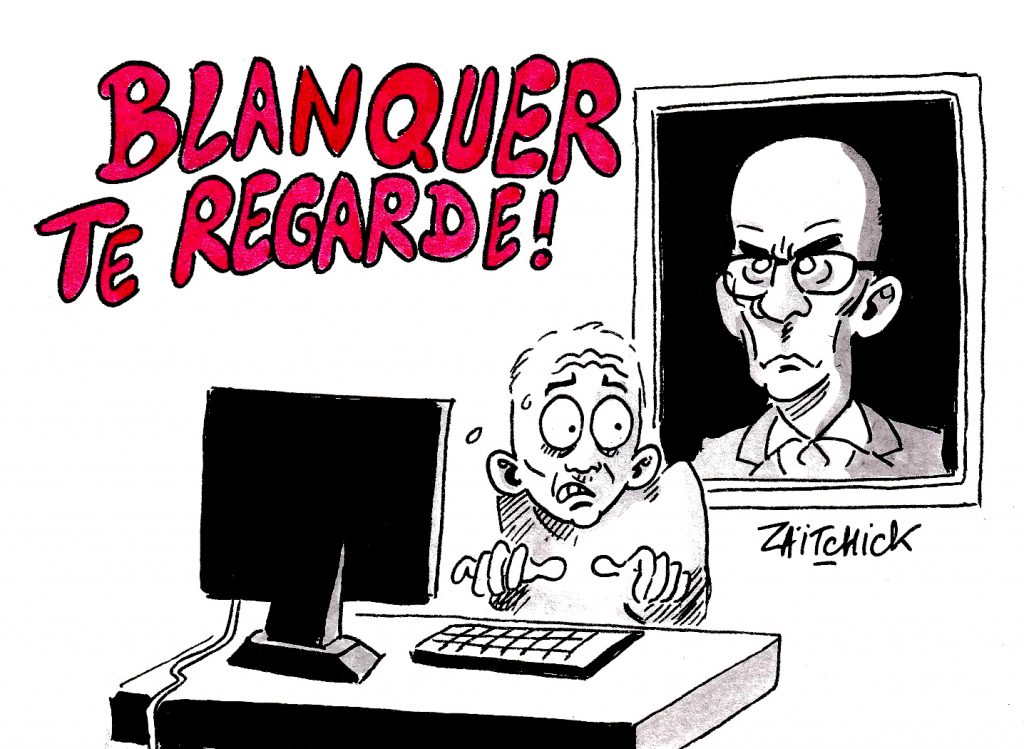dessin humoristique le devoir de réserve imposé par la Loi Blanquer