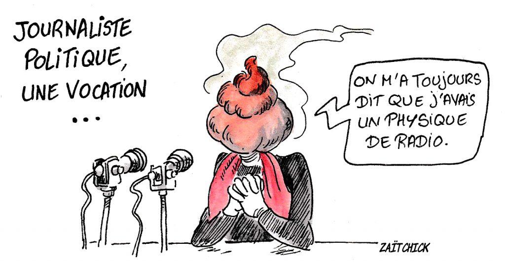 dessin d'actualité humoristique la vocation de journaliste politique