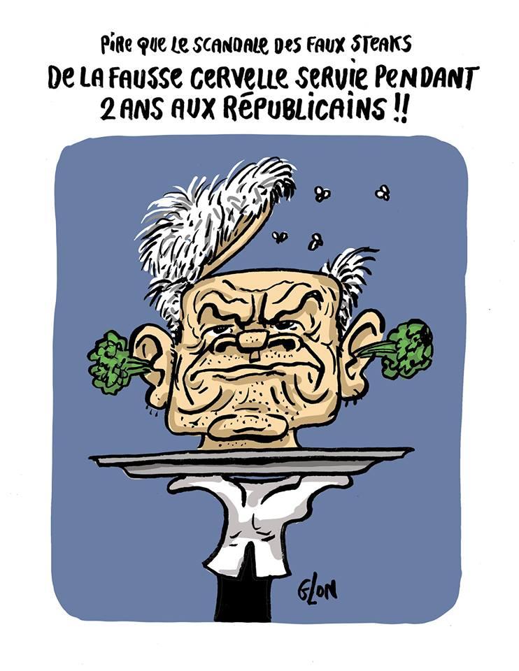 dessin d'actualité humoristique sur les deux ans de présidence de Laurent Wauquiez à la tête des Républicains