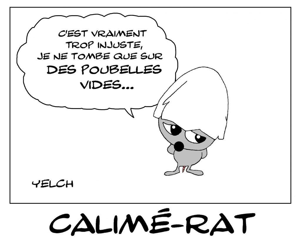 dessin de Yelch sur Calimero et l'injustice