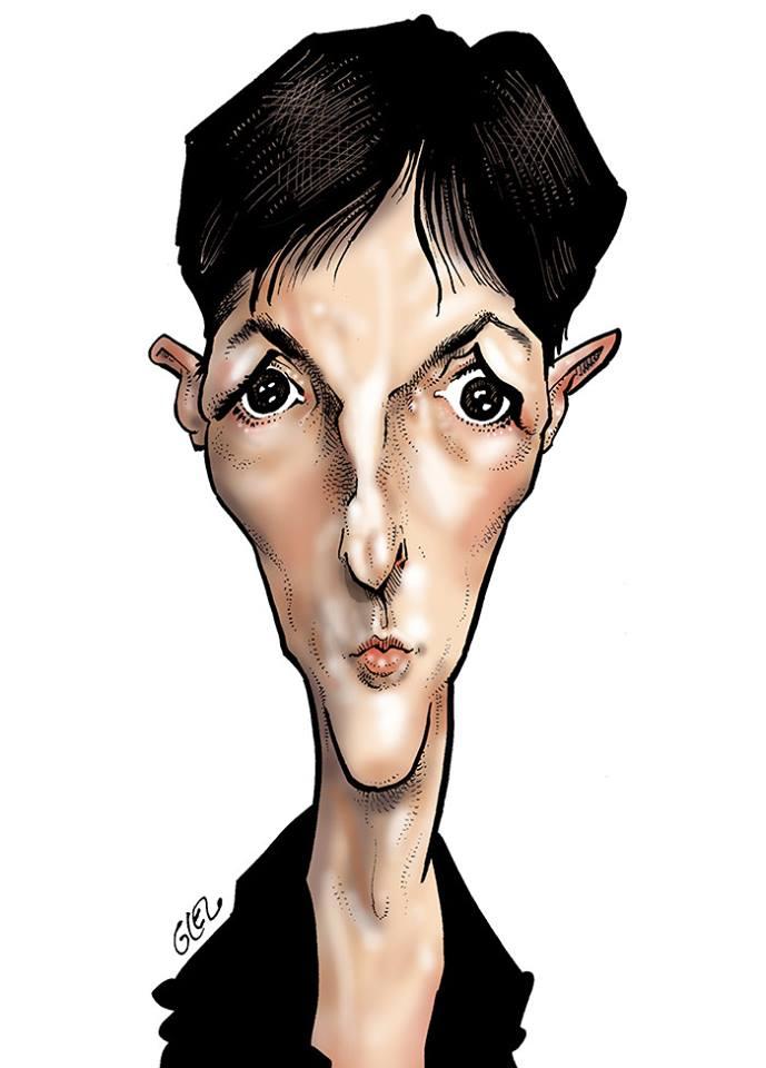 portrait humoristique de Christine Angot