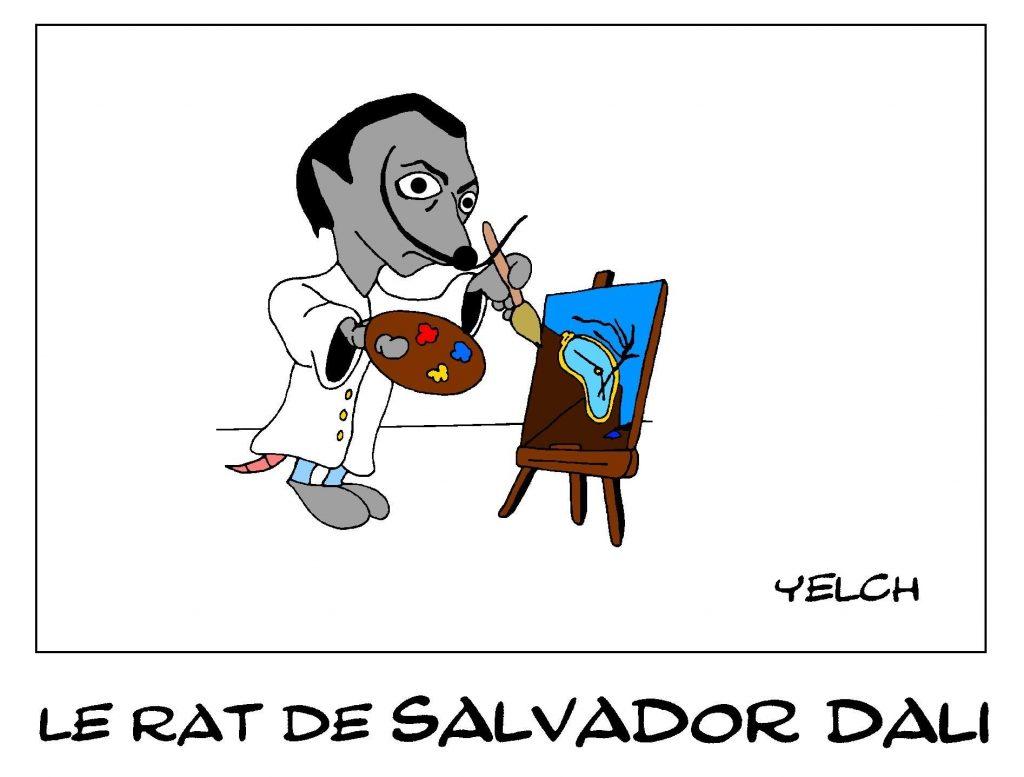 dessin de Yelch sur Salvador Dali