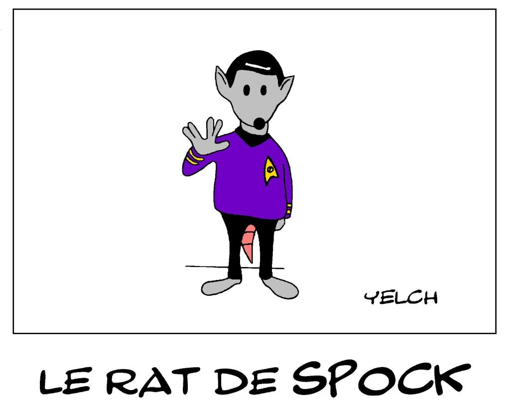 dessin de Yelch sur Monsieur Spock dans Star Trek
