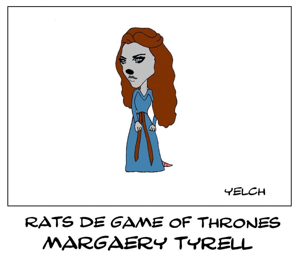 dessin de Yelch sur Margaery Tyrell dans la série Game of Thrones