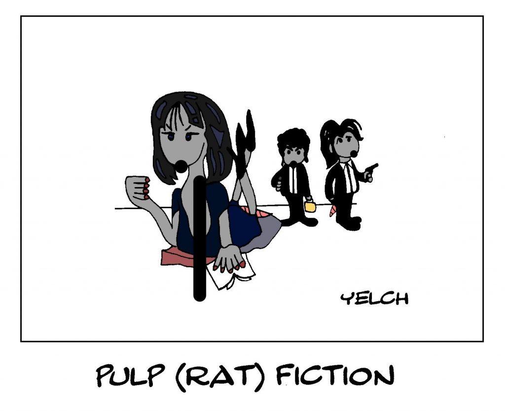 dessin de Yelch sur Pulp Fiction