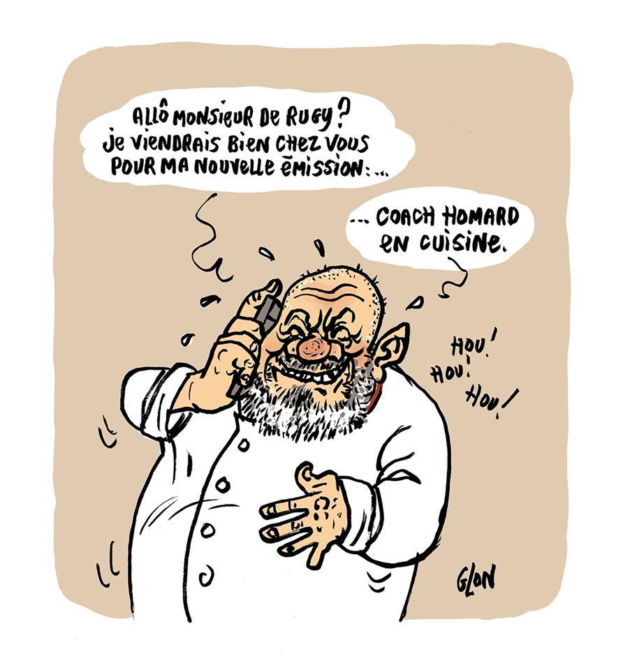 dessin d'actualité humoristique sur le scandale des dîners de François de Rugy et Philippe Etchebest