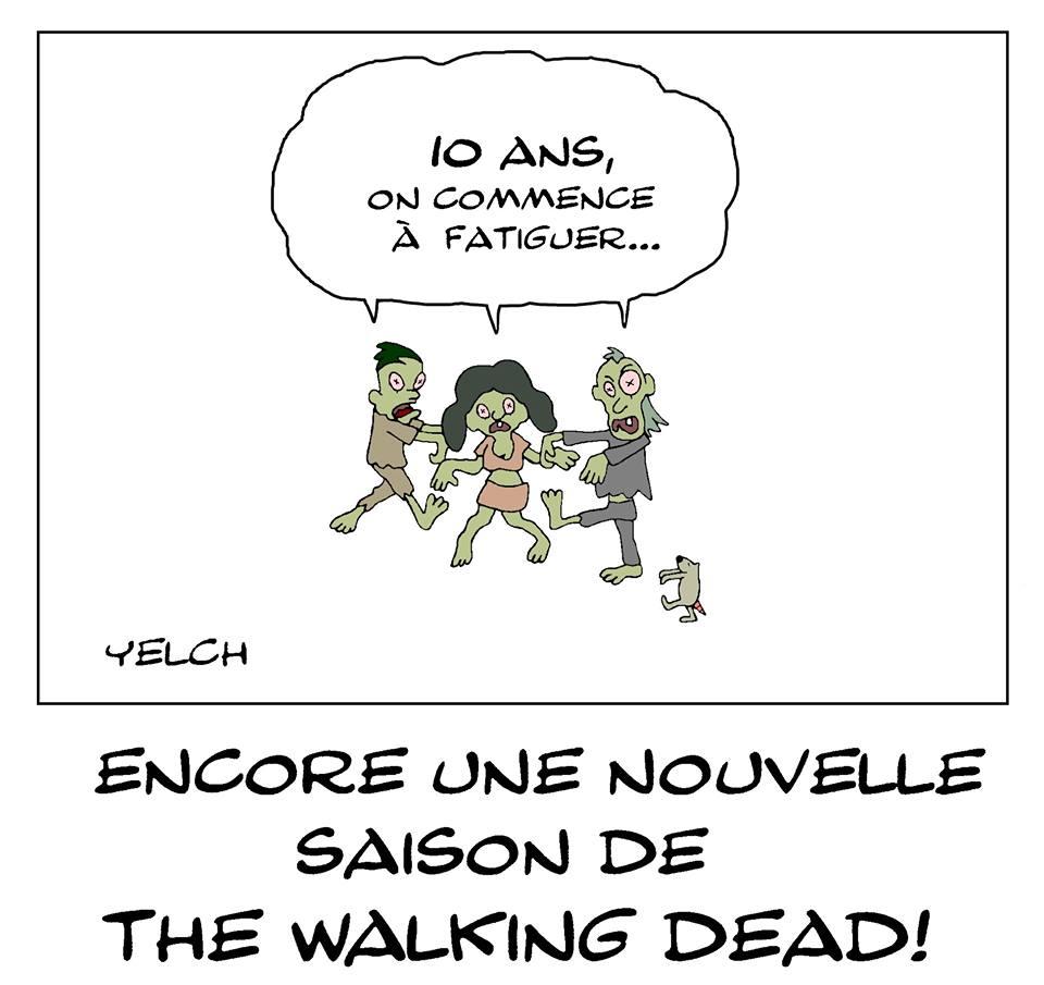 dessin de Yelch sur la série The Walking Dead