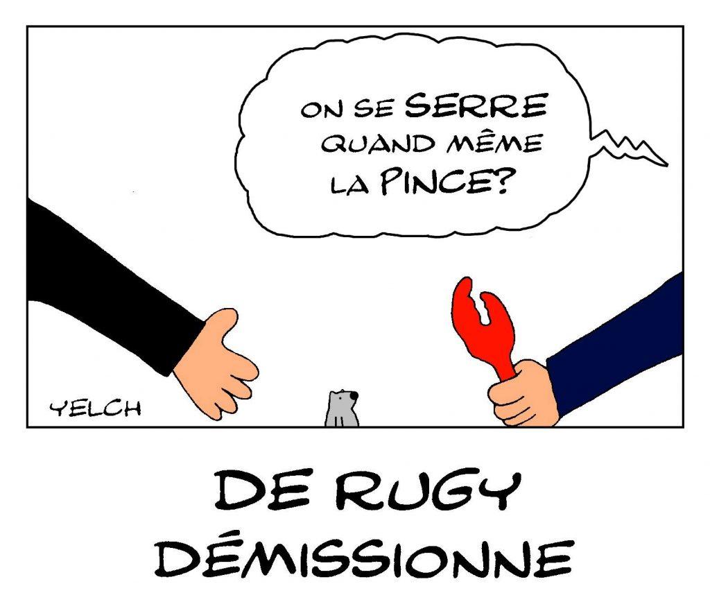 dessin de Yelch sur la démission de François de Rugy