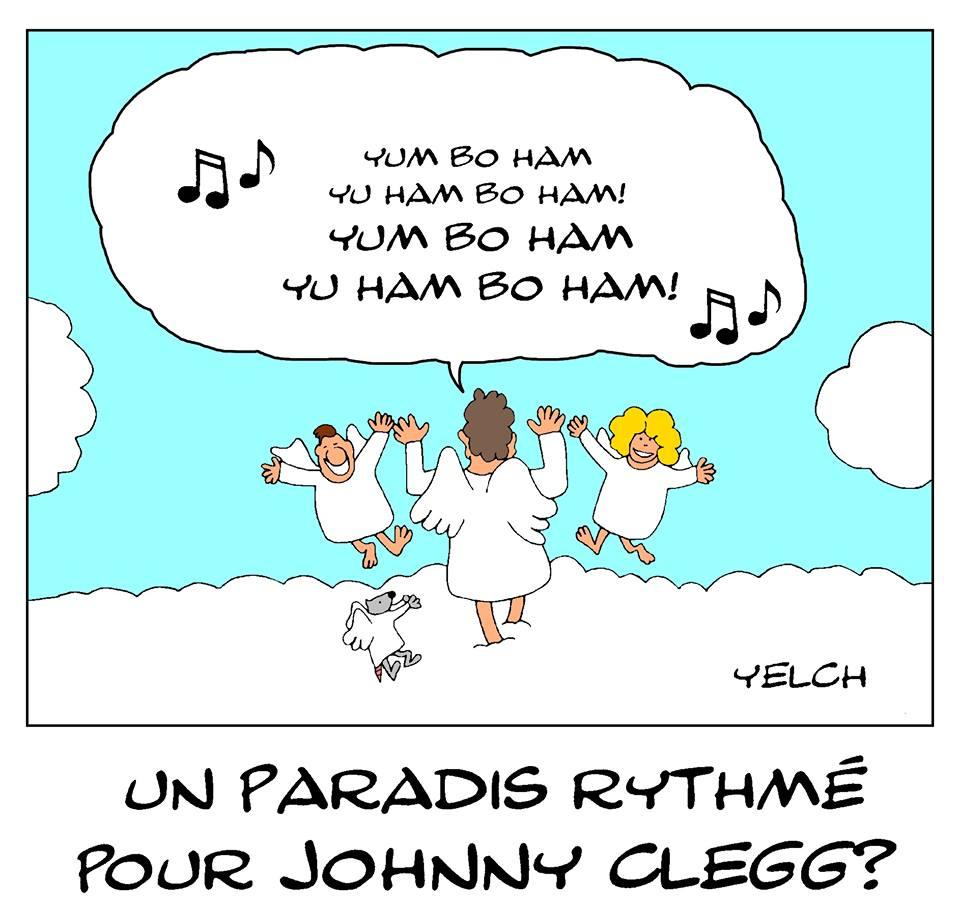 dessin de Yelch sur la disparition de Johnny Clegg