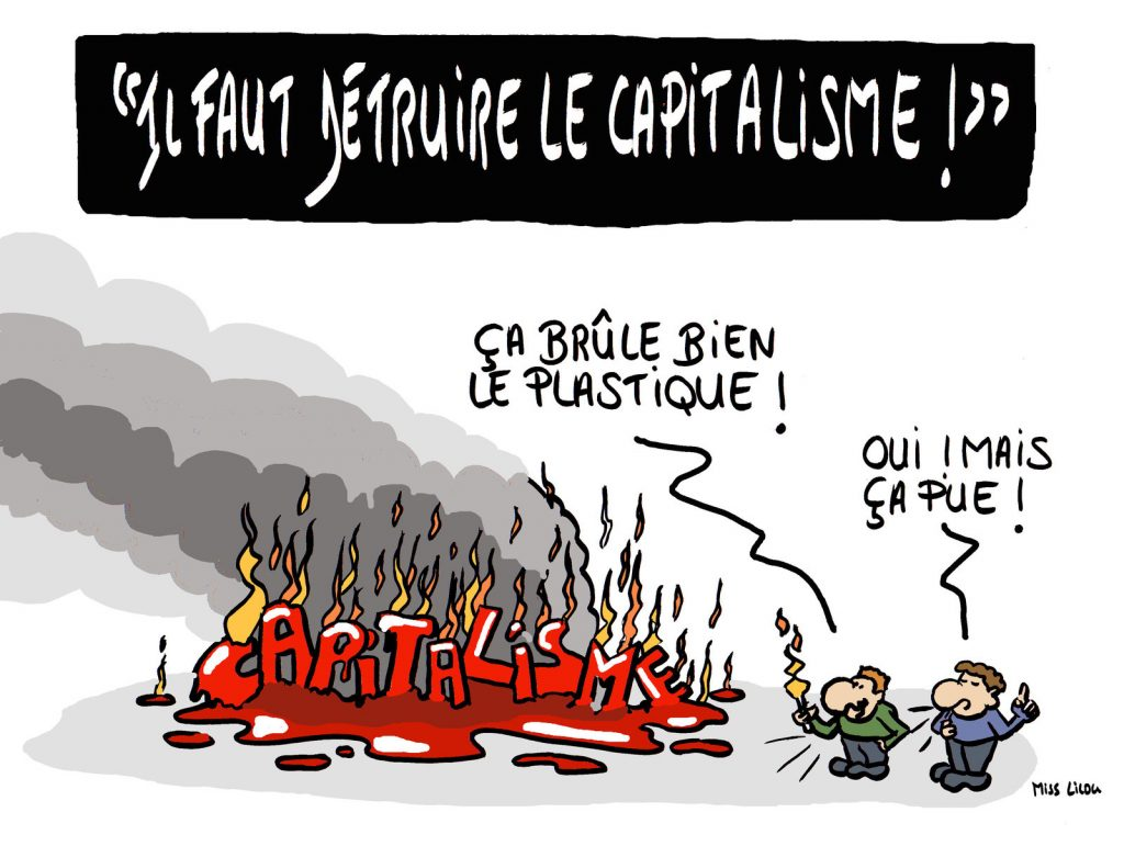 dessin de Miss Lilou sur la destruction du capitalisme
