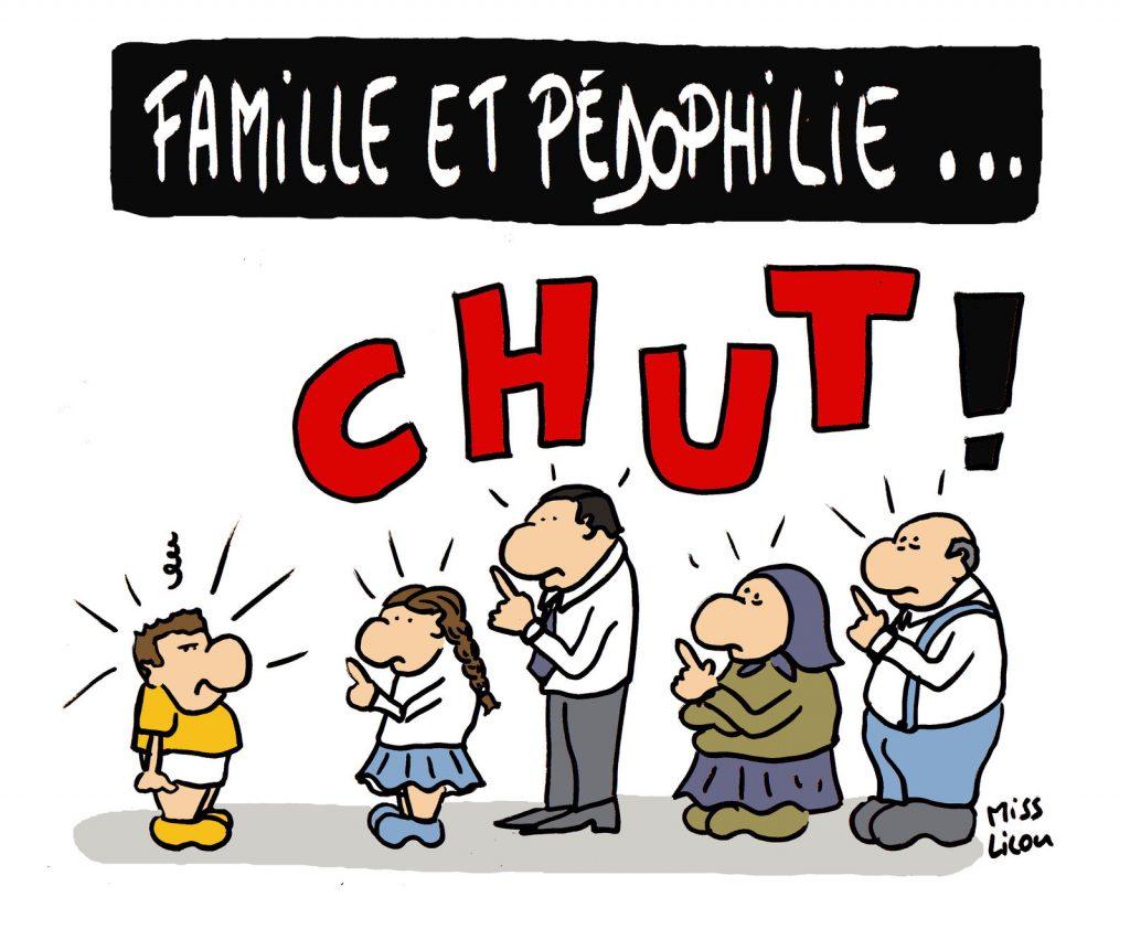 dessin de Miss Lilou sur la famille et la pédophilie
