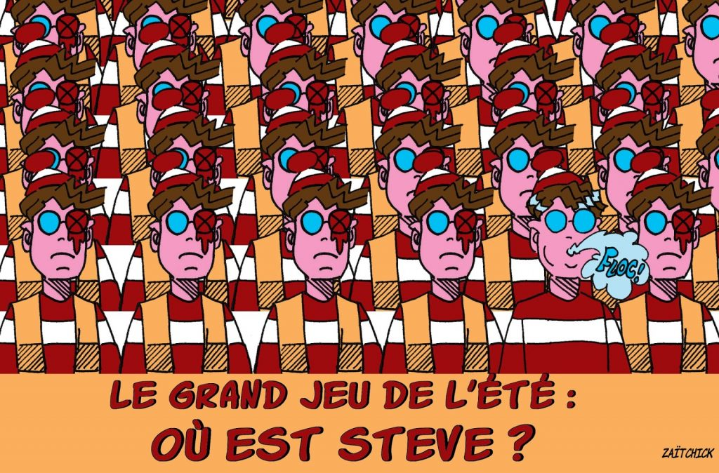 dessin humoristique de Zaïtchick sur la disparition de Steve Maia Caniço