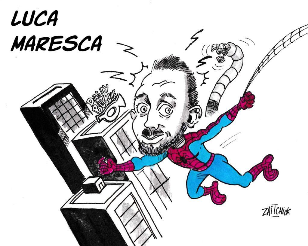 dessin humoristique de Zaïtchick sur la venue de Luca Maresca à Clermont-Ferrand