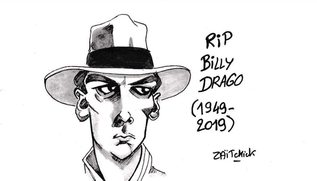 dessin de Zaïtchick sur la disparition de Billy Drago