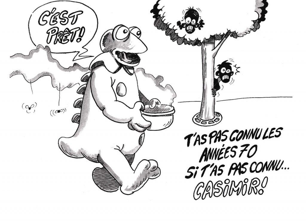 dessin humoristique de Zaïtchick sur les années 70 et Casimir