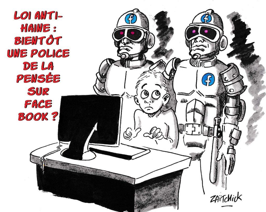 dessin humoristique de Zaïtchick sur la loi anti-haine