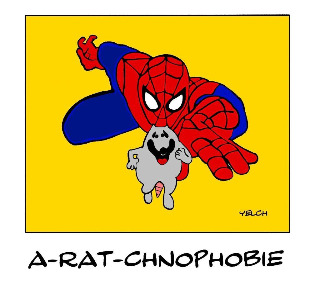 dessin de Yelch sur Spider-Man