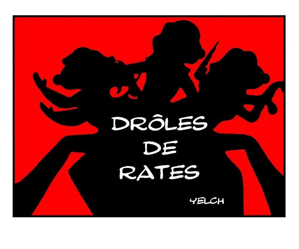 dessin de Yelch sur la célèbre série Drôles de dames