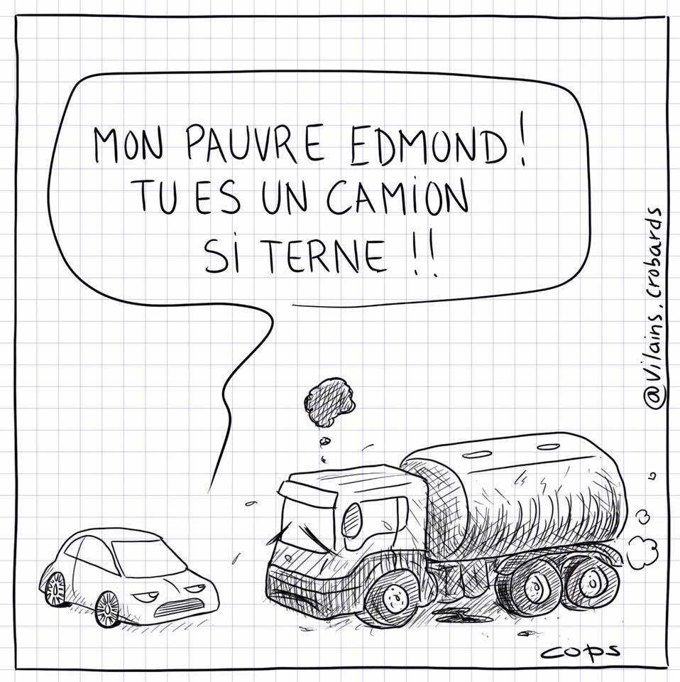 dessin de Cops sur les camions-citernes