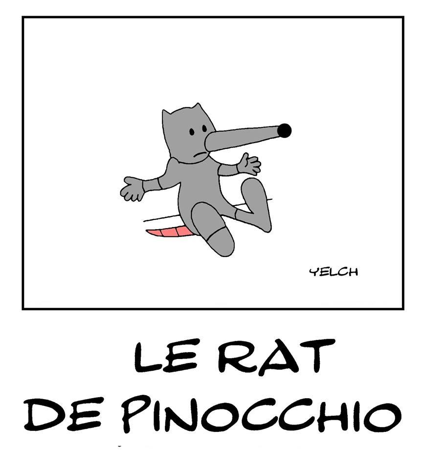dessin de Yelch sur Pinocchio