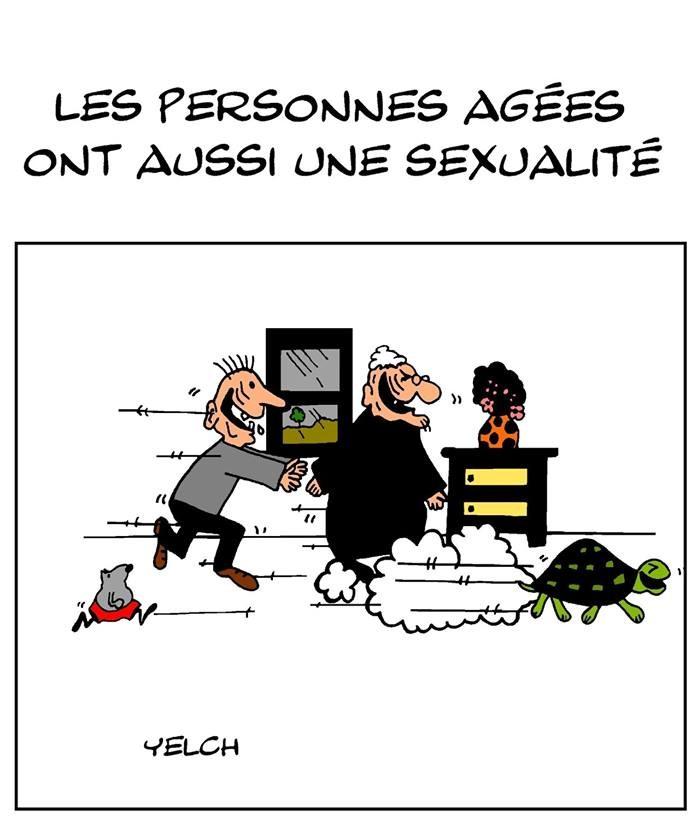 dessin de Yelch sur la sexualité des personnes âgées