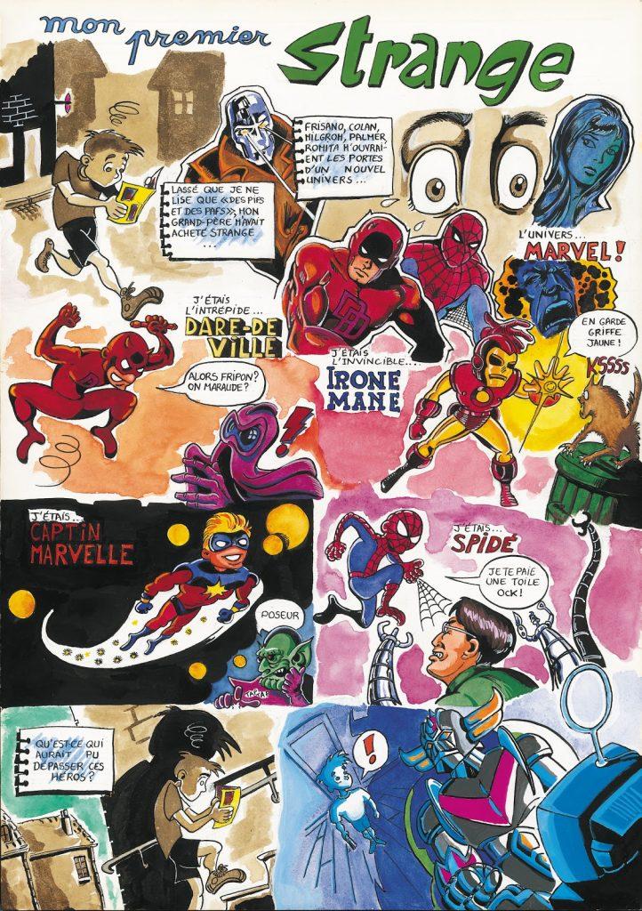 Planche de bande dessinée réalisée par Zaïtchick sur le magazine Strange