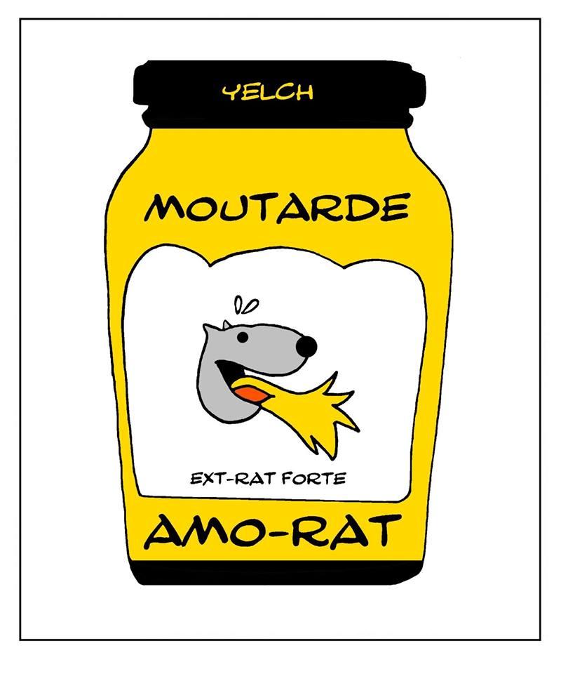 dessin de Yelch sur la moutarde Amora