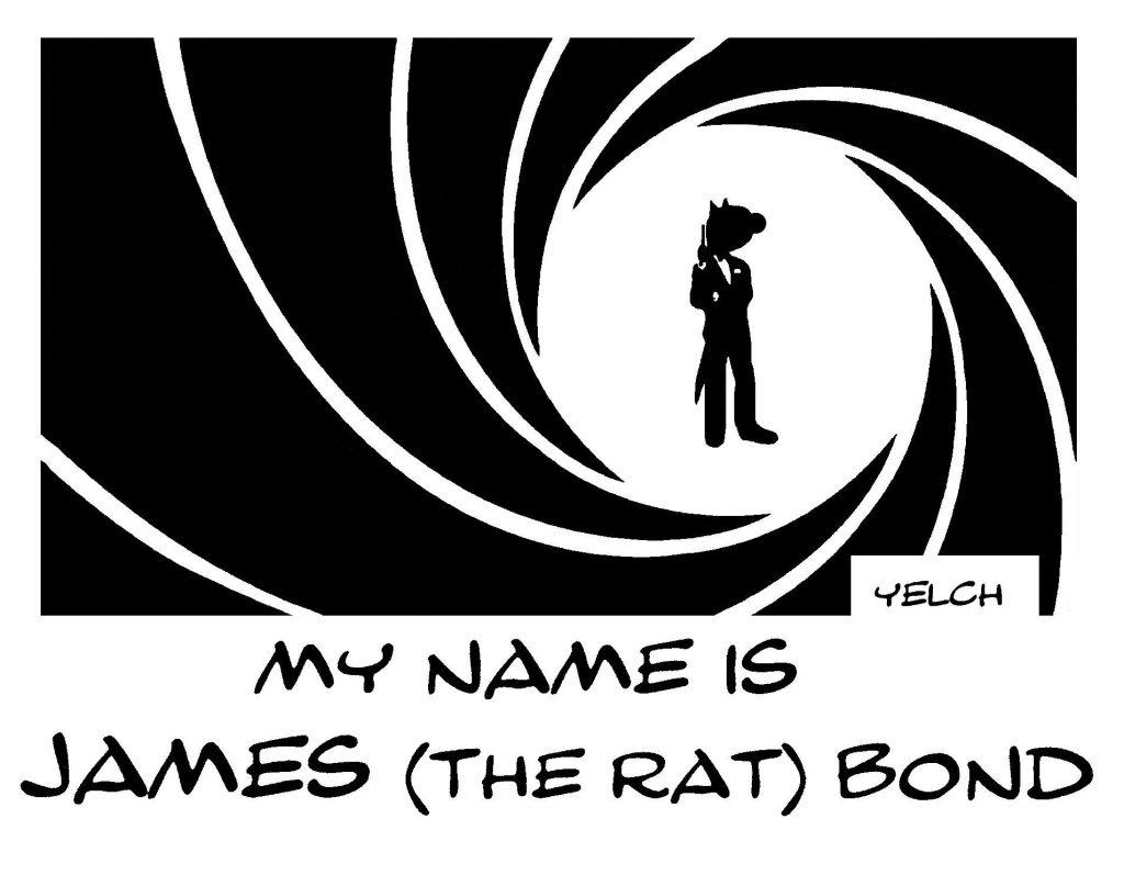 dessin de Yelch sur 007 alias James Bond