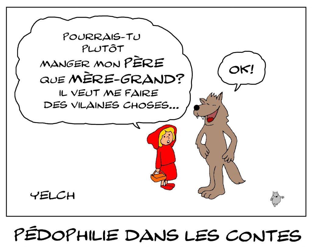 dessin de Yelch sur la pédophilie dans les contes