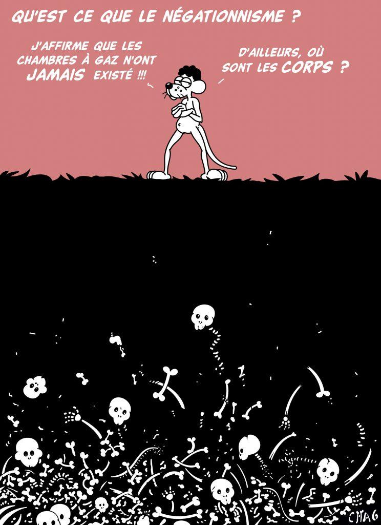 dessin d'humour de Chag sur le négationnisme