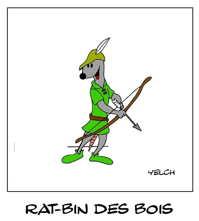 dessin de Yelch sur Robin des Bois