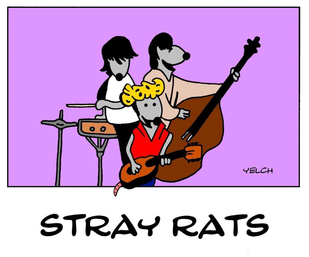dessin de Yelch sur les Stray Cats