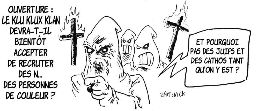 dessin humoristique de Zaïtchick sur l'évolution de la société et le métissage