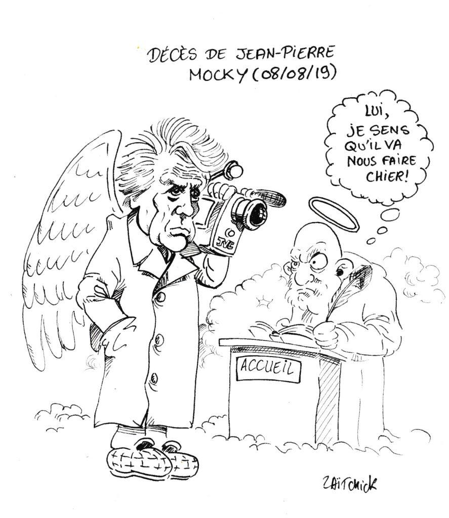 dessin humoristique de Zaïtchick en hommage à Jean-Pierre Mocky