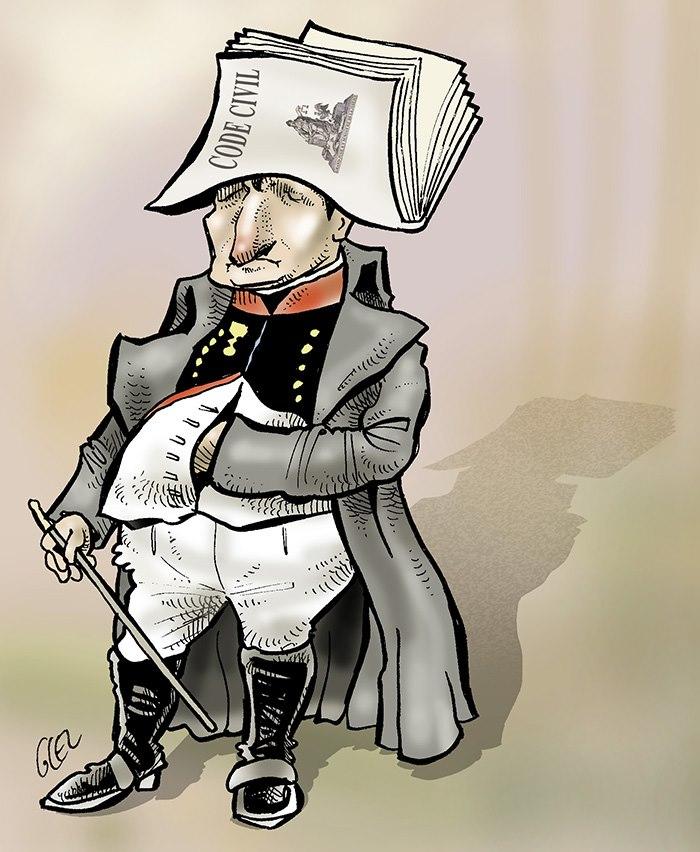 dessin humoristique de Glez sur les 250 ans de Napoléon Bonaparte