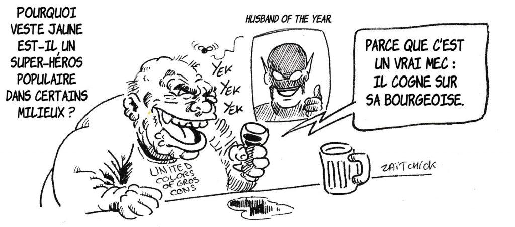 dessin humoristique de Zaïtchick sur le pourquoi de la popularité de Yellowjacket
