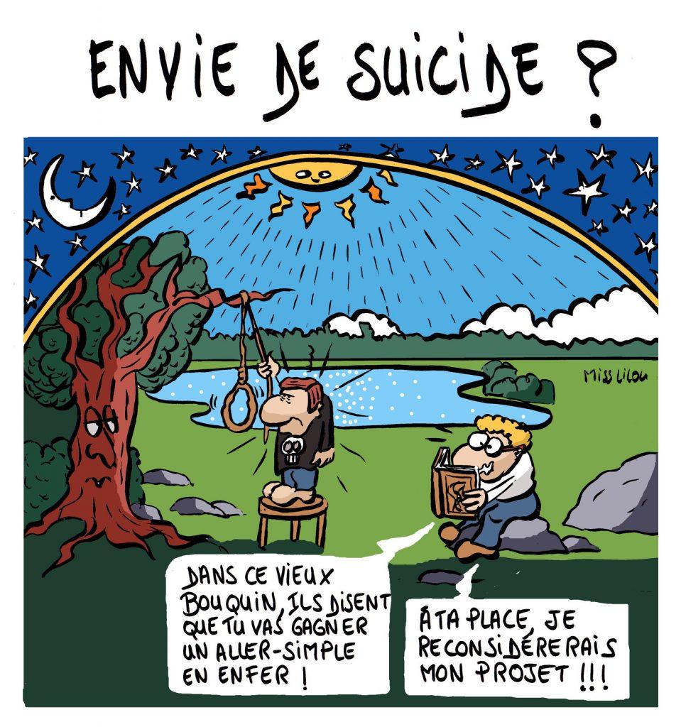 dessin de Miss Lilou sur les envies suicidaires