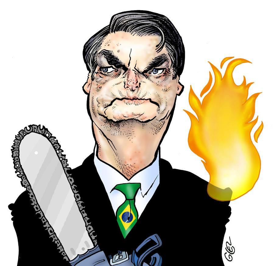 dessin humoristique de Glez sur Jair Bolsonaro