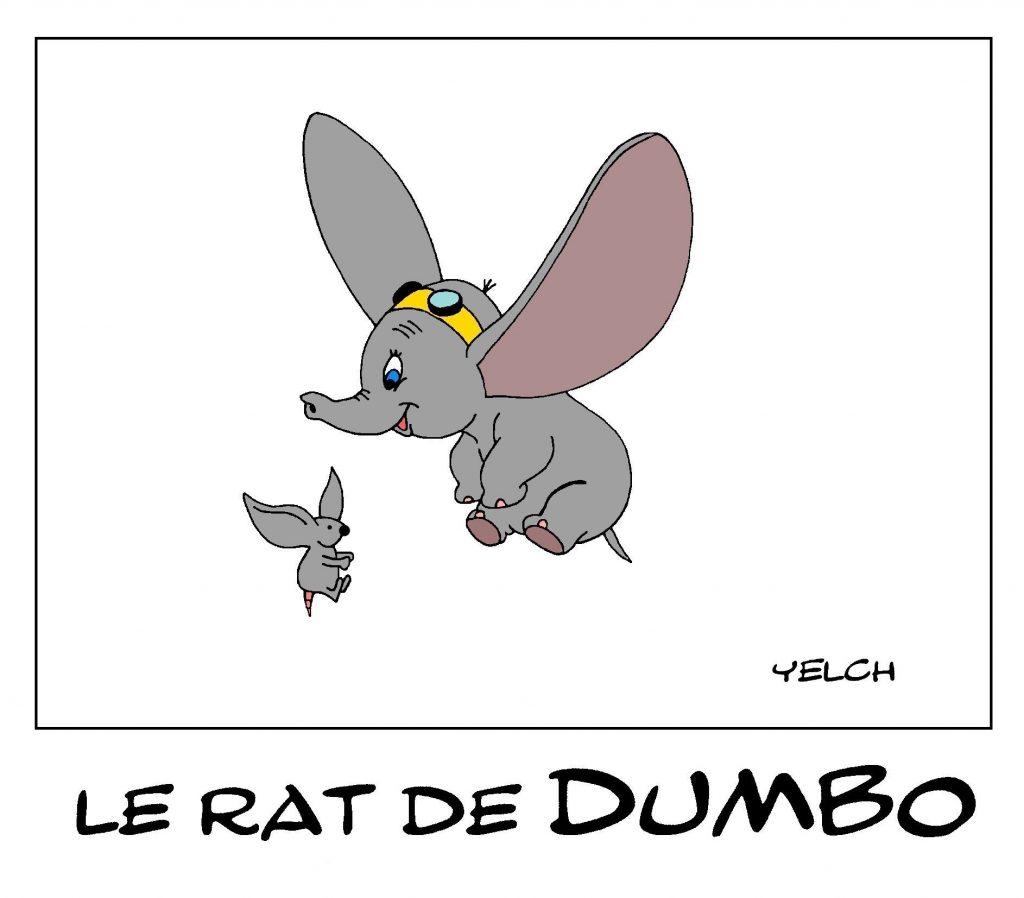 dessin de Yelch sur Dumbo l'éléphant volant