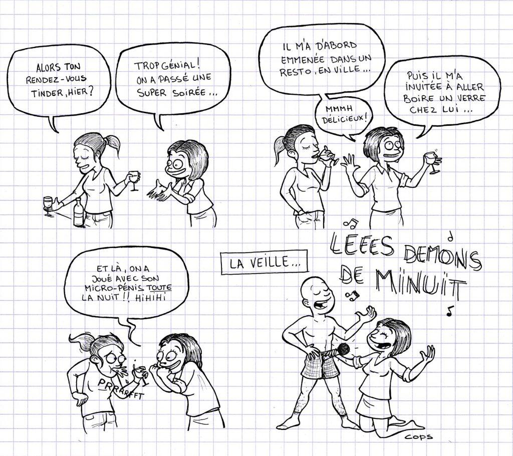 dessin de Cops sur les micropénis