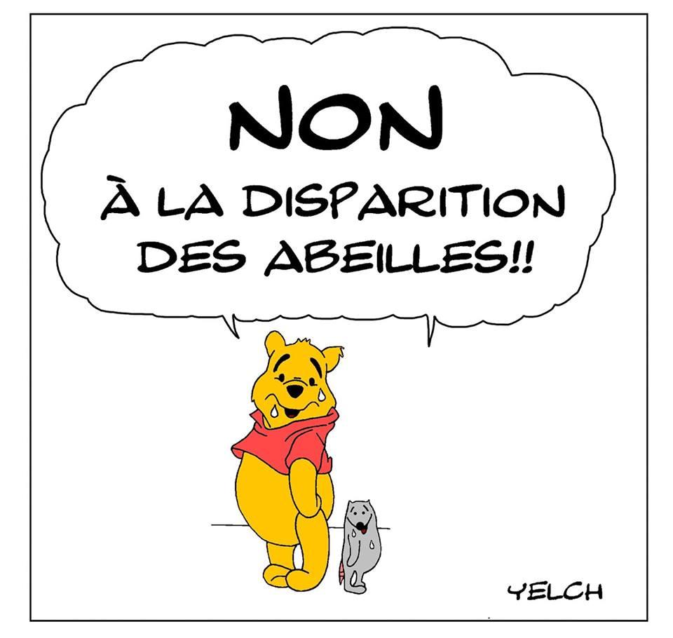 dessin de Yelch sur Winnie l'ourson et la disparition des abeilles