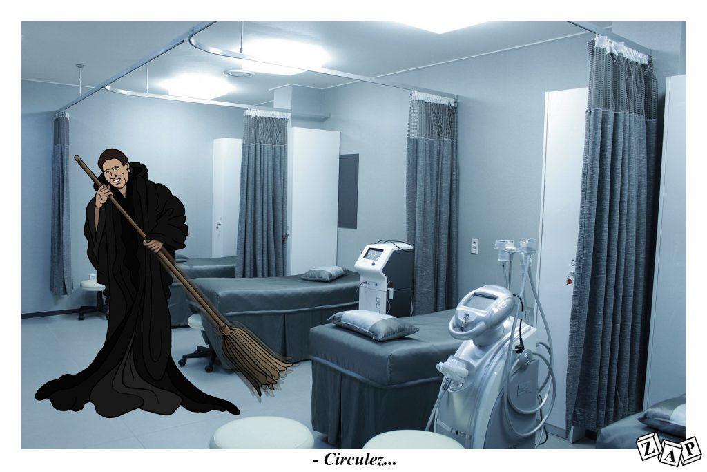 dessin d'actualité de Zap sur la gestion de la crise des urgences par la ministre Agnès Buzyn