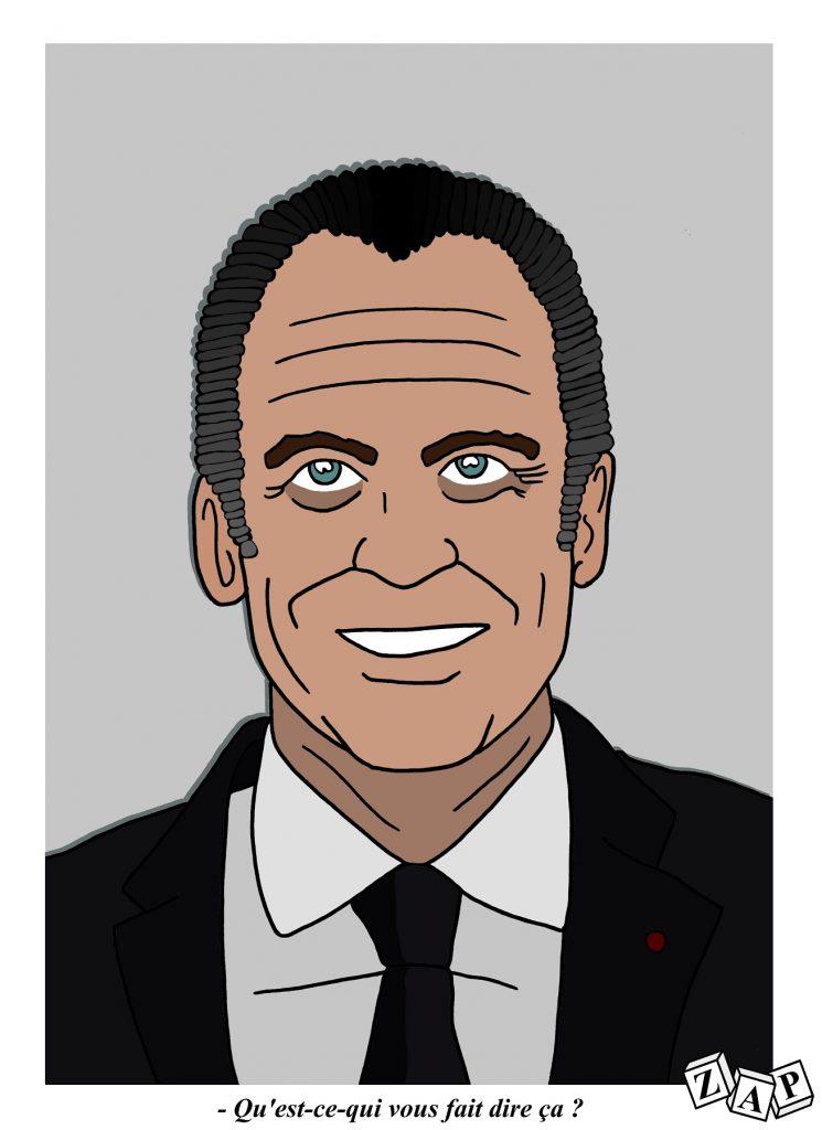 dessin d'actualité de Zap sur la Hollandisation d'Emmanuel Macron