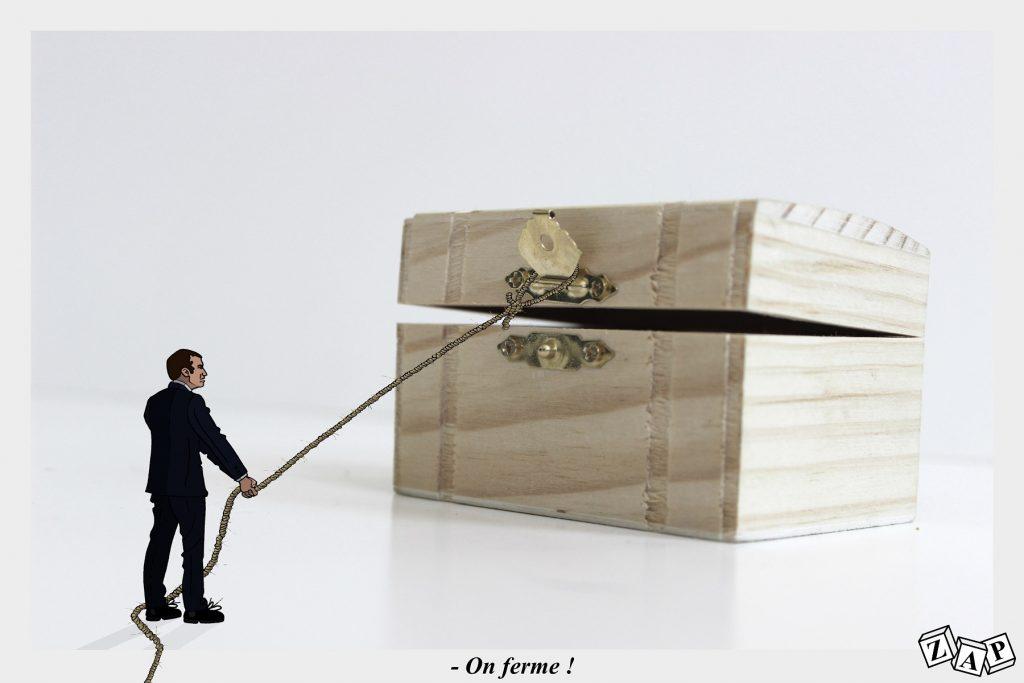 dessin d'actualité de Zap sur la réforme des retraites