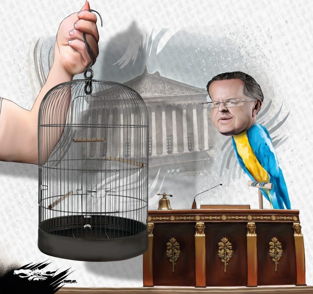 dessin d'actualité humoristique de Jerc sur la mise en examen de Richard Ferrand et son maintien au perchoir de l'Assemblée Nationale