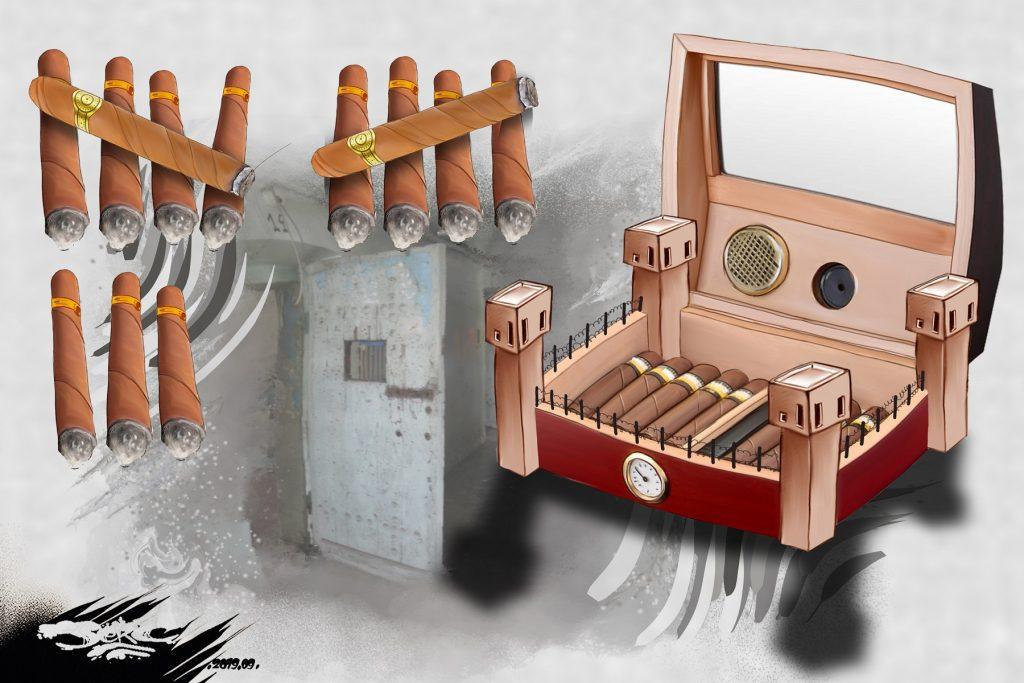 dessin d'actualité humoristique de Jerc sur l'incarcération de Patrick Balkany
