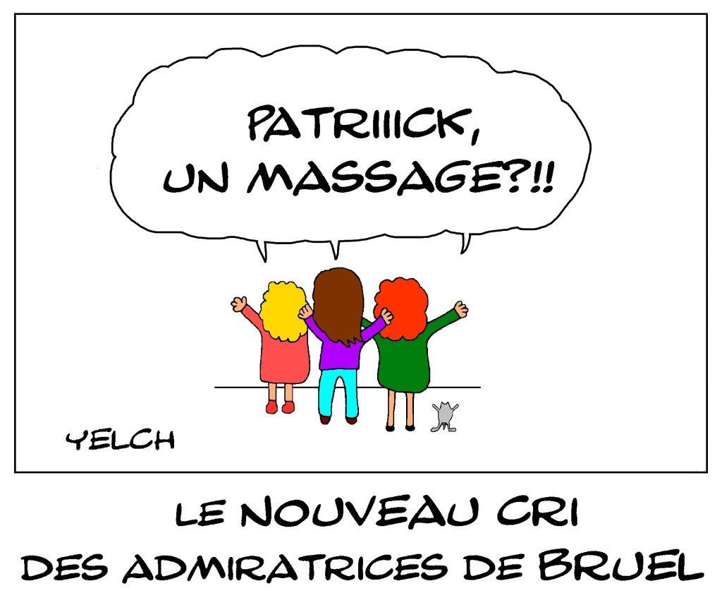 dessin de Yelch sur admiratrices de Patrick Bruel après les accusations d'exhibition et de harcèlement sexuel à l'encontre de Patrick Bruel