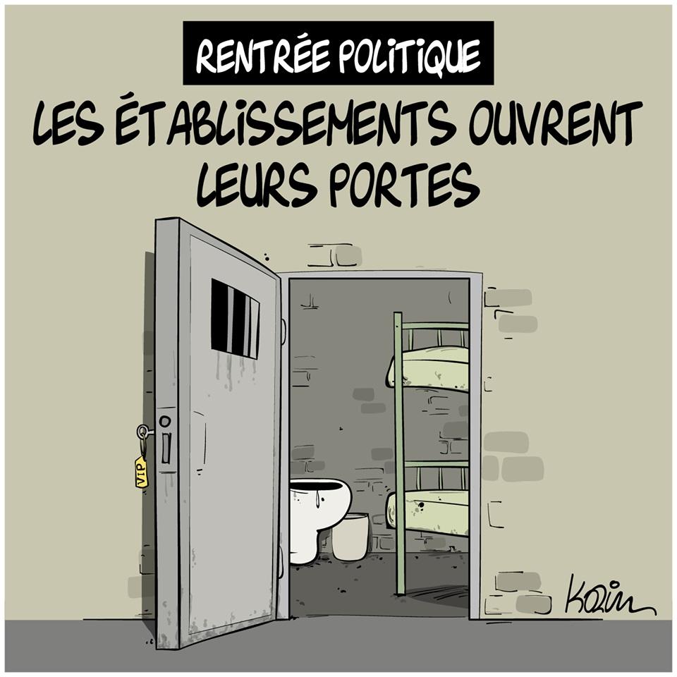 dessin d'actualité humoristique de Karim sur la rentrée politique