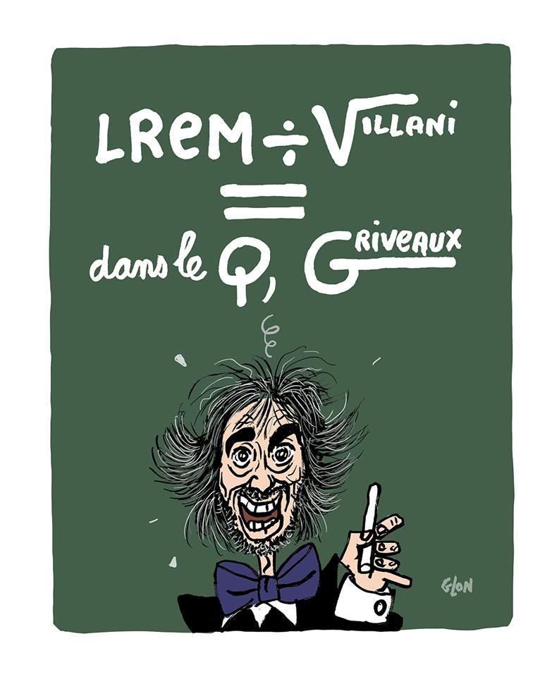 dessin humoristique de Glon sur la candidature de Cédric Villani à la Mairie de Paris